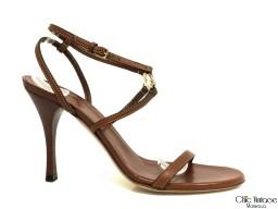 Sandalias de Cuero Marrón GUCCI