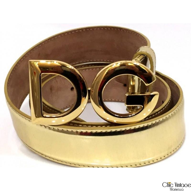 Cinturón Piel dorada D&G