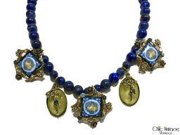 Collar marca VINTAGE Lapislázuli