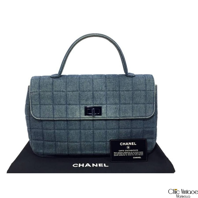 Bolso de Mano CHANEL Denim Chocolat
