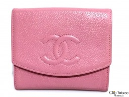 Cartera Monedero CHANEL Caviar Rosa