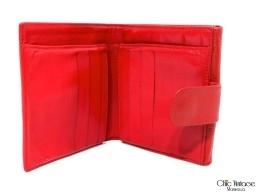 Cartera Monedero CHANEL Cuero Rojo