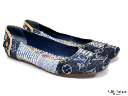 Bailarinas LOUIS VUITTON Modelo Denim Patchwork