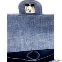 Bolso CHANEL Tela Jeans azul