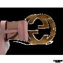 Cinturón GUCCI Piel Rosa