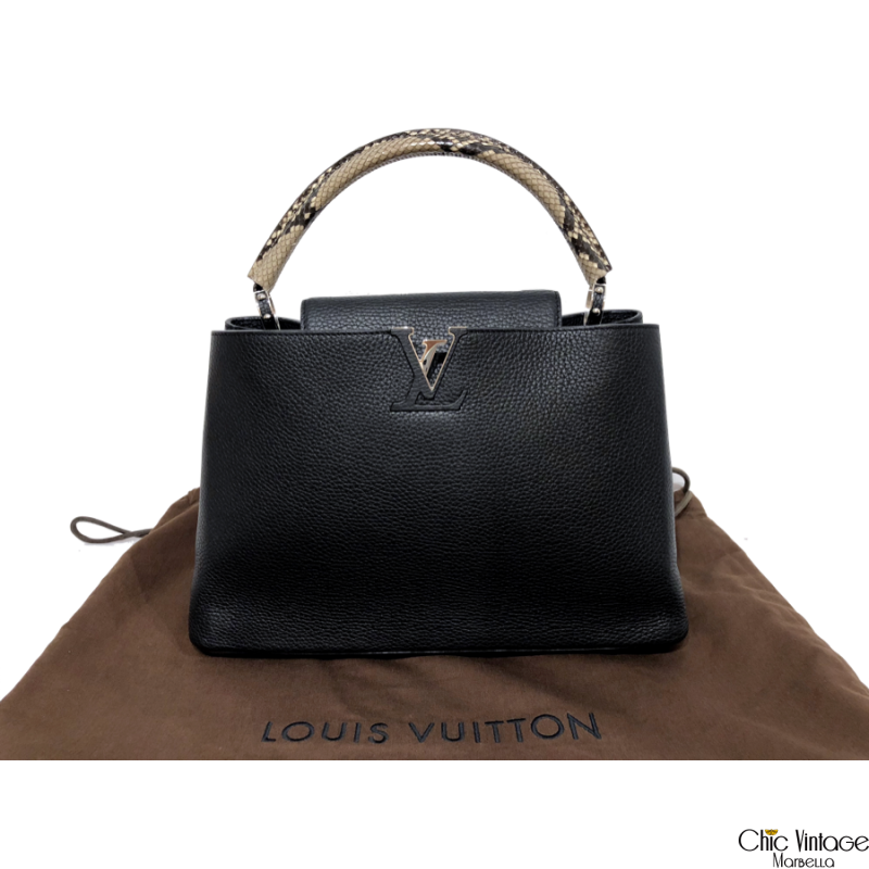 Bolso LOUIS VUITTON Capuchino Pitón