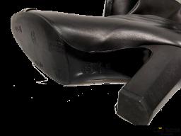 Botas de cuero negras CHANEL Reja (articulo pre-amado)
