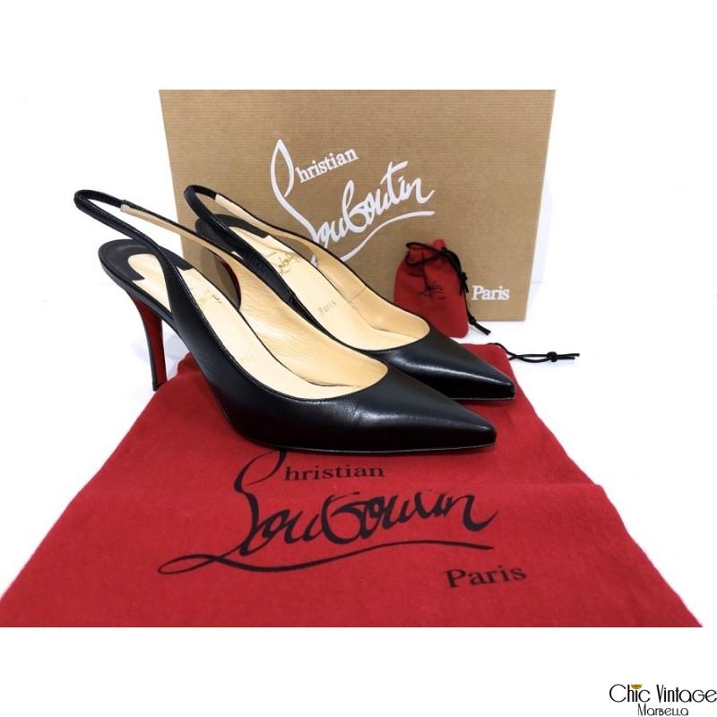 Zapatos LOUBOUTIN Modelo APOSTROPHY SLING 85 KID
