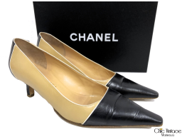 Zapatos CHANEL cuero Bitono