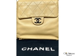 Bolso Hombro CHANEL Cannage Beige