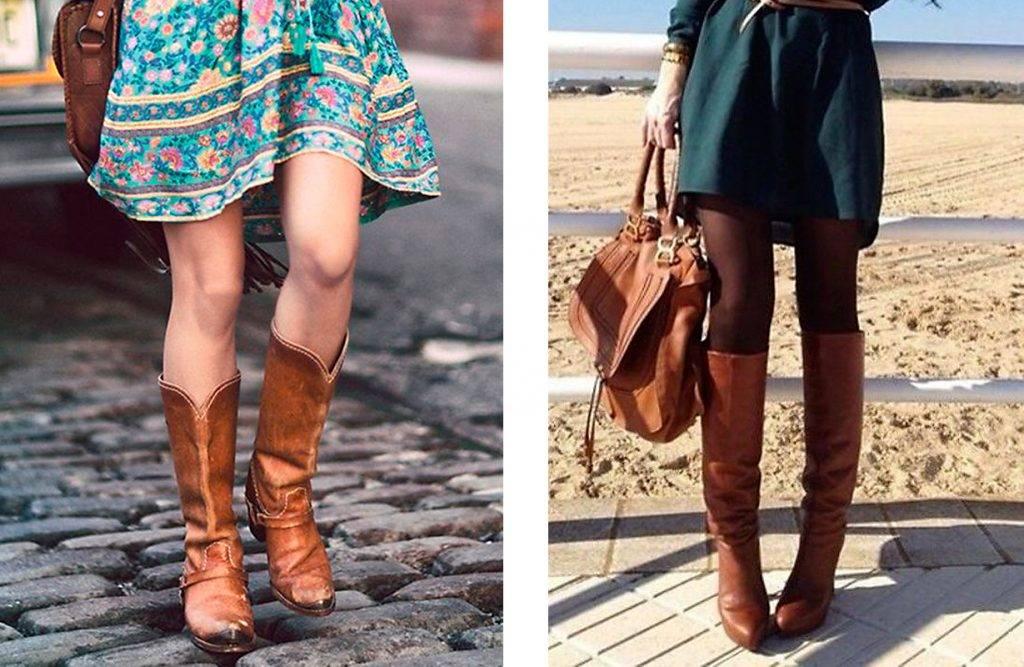Vestidos para fiesta con botas largas